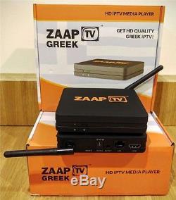 Zaap TV Greek Set Top Box Subscription Free IPTV