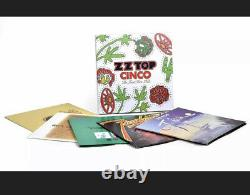 Zz Top Cinco The First Five Lp's 180g Lp Box Set Rare Out Of Print Sealed! II